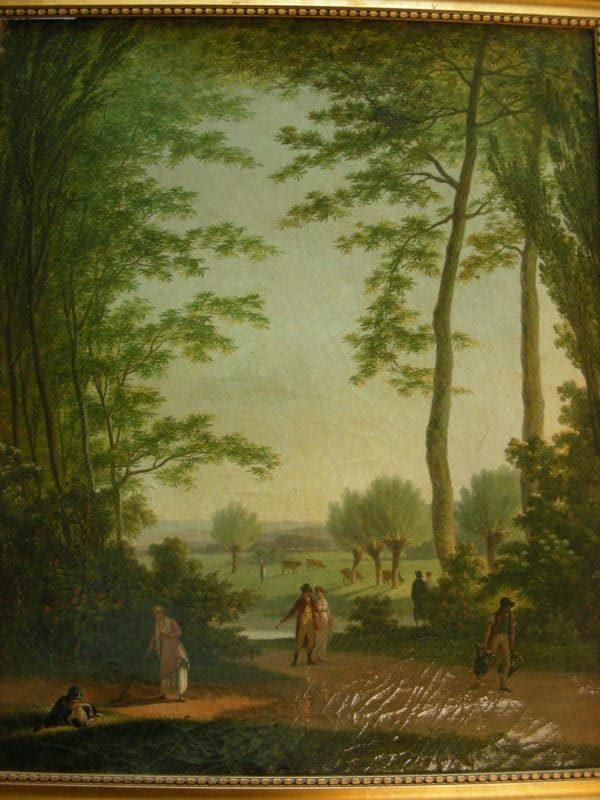 Paysage animé signé François SABLET