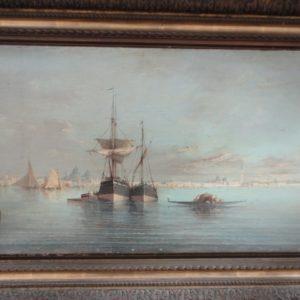 Marine signée INOEL – huile sur toile