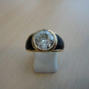 Bague OR avec diamant de 2.80 carats