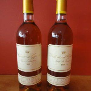 Deux bouteilles de Château YQUEM de 1989