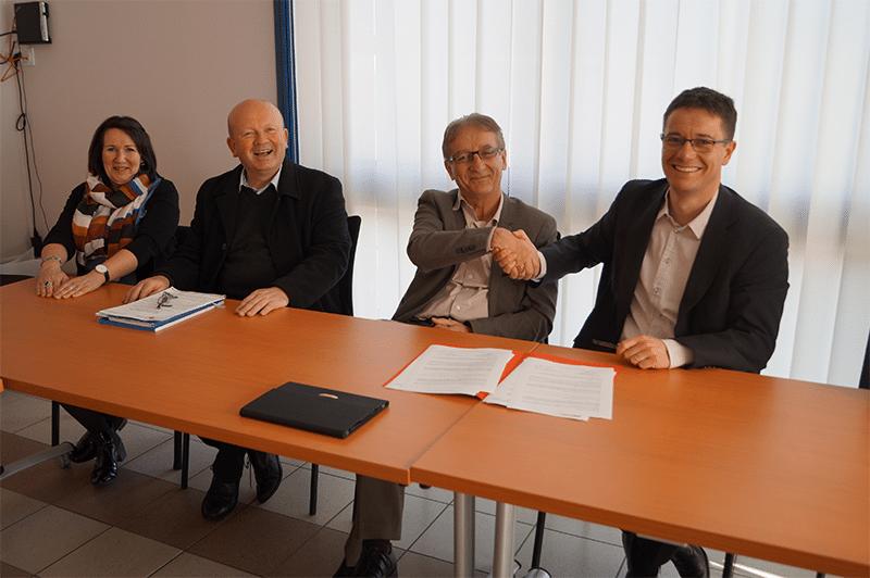 Signature Montrevault-sur-Èvre et Crédit Municipal